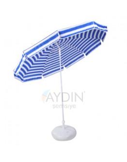 Ø 200/10 pamuklu kumaş plaj şemsiyesi